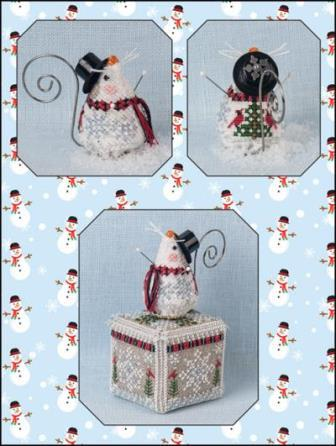 Just Nan - 2019 Ornament Shop - Frosty Chillingsworth Mouse & Embellishments Limited Edition Ornament-Just Nan - 2019 Ornament Shop - Frosty Chillingsworth Mouse  Embellishments Limited Edition Ornament
