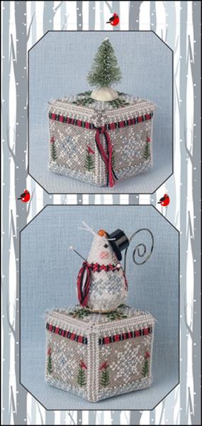 Just Nan - Frosty Snow Cube-Just Nan - Frosty Snow Cube, snow, winter, box, cross stitch