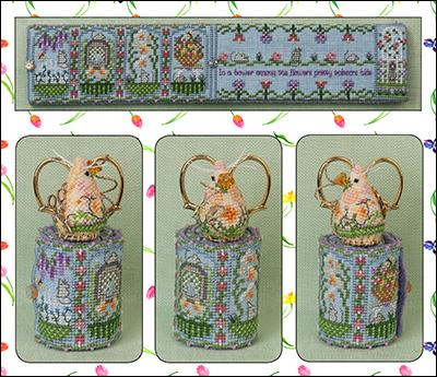 Just Nan - Spring Mouse Scissor Roll Limited Edition 2019-Just Nan - Spring Mouse Scissor Roll Limited Edition 2019, mouse, scissor keep, needle roll, spring, cross stitch