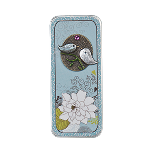 Just Nan - Needle Slide - Kissing Birds-Just Nan - Needle Slide - Kissing Birds, needles, magnet, storage, cross stitch
