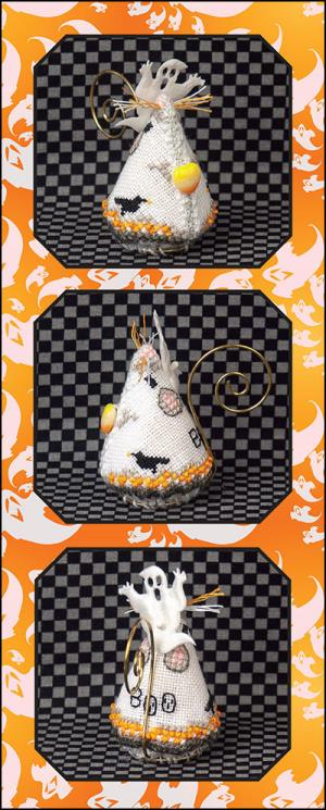 Just Nan - 2019 Ornament Shop - Candy Corn Ghost Mouse-Just Nan - 2019 Ornament Shop - Candy Corn Ghost Mouse, Halloween,