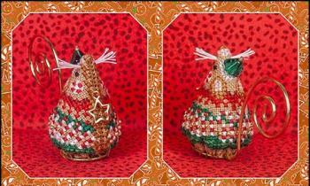 Just Nan - 2018 Ornament Shop - Gingerbread Elf Mouse - Limited Edition-Just Nan - 2018 Ornament Shop - Gingerbread Elf Mouse - Limited Edition, Christmas, mouse, ornaments, cross stitch