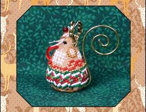 Just Nan - 2015 Ornament Shop - Gingerbread Reindeer Mouse & Embellishments Limited Edition Ornament-Just Nan - 2015 Ornament Shop - Gingerbread Reindeer Mouse  Embellishments Limited Edition Ornament, Christmas,