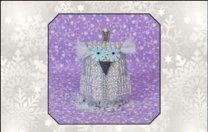 Just Nan - 2014 Ornament Shop - Little Princess Snow & Embellishments - Cross Stitch Kit-Just Nan, Little Princess Snow  Embellishments,2014 Ornament Shop, owls, animals, pin cushion,ornament,  Cross Stitch Kit