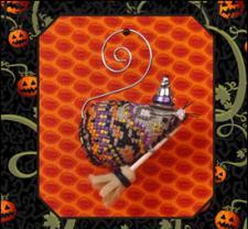 Just Nan - 2014 Ornament Shop - Miss Witchy Mouse & Embellishments Limited Edition Ornament-Just Nan, 2014 Ornament Shop, Miss Witchy Mouse  Embellishments Limited Edition Ornament, Cross Stitch, broom,