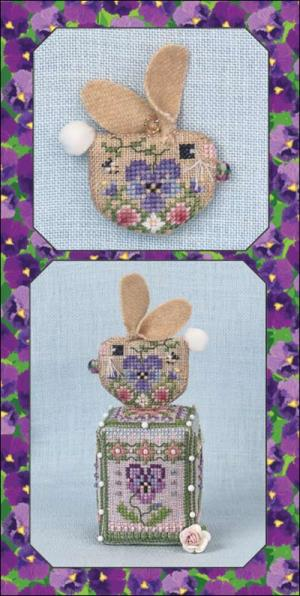 Just Nan - Pansy Bunny Limited Edition-Just Nan - Pansy Bunny Limited Edition, Easter, Spring, rabbit, ornament, cross stitch