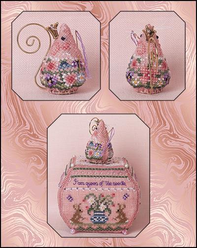 Just Nan - 2019 Ornament Shop - Queen of the Needle Mouse-Just Nan - 2019 Ornament Shop - Queen of the Needle Mouse, cross stitch, collectors