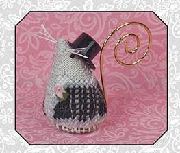 Just Nan - 2016 Ornament Shop - Romeo the Groom Mouse-Just Nan - 2016 Ornament Shop - Romeo the Groom Mouse, Romeo  Juliet, mice, ornaments, cross stitch,