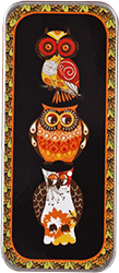 Just Nan - Needle Slide - Autumn Hoots-Just Nan - Needle Slide - Autumn Hoots, owls, needles, magnet, storage, cross stitch