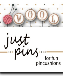 Just Another Button Company - Just Pins - W is for Wool-Just Another Button Company - Just Pins - W is for Wool, pincushions, embellishments, accessories, cross stitch
