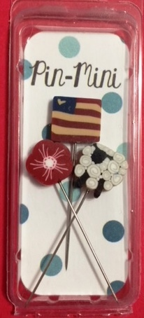 #jpm432 Just Another Button Company -  All-American Ewe Pin-Mini Pack-Just Another Button Company -  All-American Ewe Pin-Mini Pack, American flag, fireworks, sheep, pins, patriotic, cross stitch, Shepherds Bush