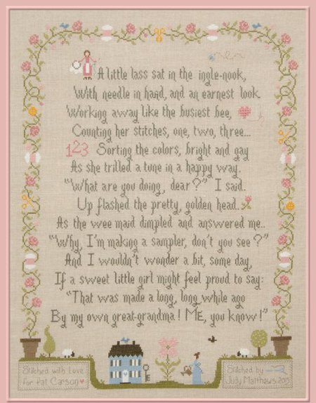 Jardin Prive - Sampler of My Grandma-Jardin Prive - Sampler of My Grandma, sampler, Pat Carson, historical, family, cross stitch
