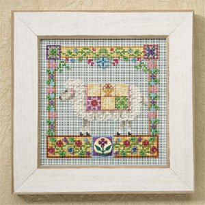 Mill Hill - Sophie Sheep Kit - Farm Animals by Jim Shore-Mill Hill - Sophie Sheep Kit - Farm Animals by Jim Shore, sheep, lamb, mill hill beads, perforated paper, flowers,