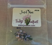 Just Nan - Painted Tulip Bouquet Charm-Just Nan - Painted Tulip Bouquet Charm, Just Nan Spring in the Meadow