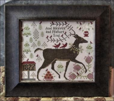 Kathy Barrick - And Heaven and Nature Sing-Kathy Barrick - And Heaven and Nature Sing, reindeer, Christmas, primitive, 1827, cardinal, winter,forest,
