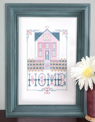 Kit & Bixby - Home Is Where Love Blooms - Cross Stitch Chart-Kit & Bixby, Home Is Where Love Blooms, house, family, love, flowers, Cross Stitch Chart