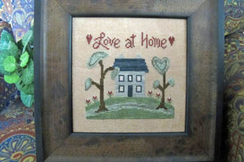 From The Heart - Needleart by Wendy - Love at Home-From The Heart - Needleart by Wendy, Love at Home, family, love, houses, hearts, Cross Stitch Pattern