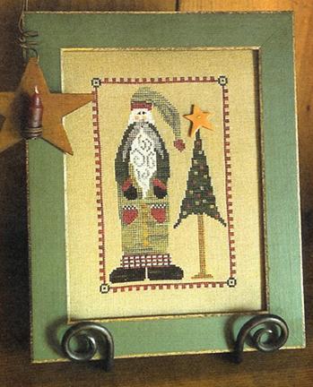 Knotted Tree Needlearts - Santa's Little Tree - Cross Stitch Pattern-Knotted Tree Needlearts, Santa's Little Tree, Santa Claus, Christmas Tree, Cross Stitch Pattern