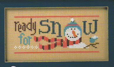 Lizzie Kate - 6 Snow Belles Flip-it - Ready for Snow-Lizzie Kate, 6 Snow Belles,Flip-it, snowman, snowlady, knitted scarf, bluebird, tree branch, snowflake, flower, Ready for Snow - Cross Stitch Pattern