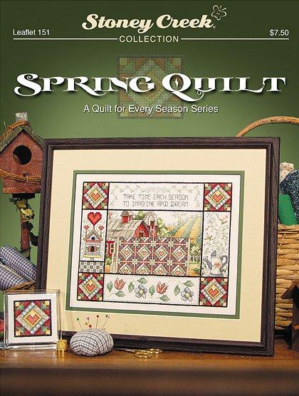 Stoney Creek Spring Quilt Cross Stitch Chart-Stoney Creek Spring Quilt Cross Stitch Chart