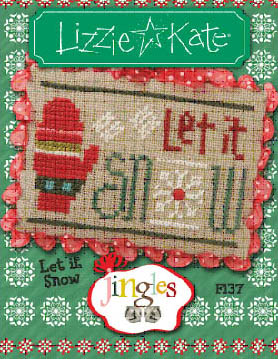 Lizzie Kate - Jingles - Part 12 of 12 - Let It Snow - Cross Stitch Pattern-Lizzie Kate, Jingles, Part 12 of 12, Let It Snow, Christmas ornament, Cross Stitch Pattern