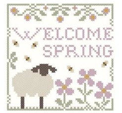 Little House Needleworks - Welcome Spring - Free Chart with Classic Colorworks threads Purchase
