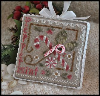 Little House Needleworks - Ornament of the Month 2010 - Peppermint Twist-Little House Needleworks - Ornament of the Month 2010 - Peppermint Twist - Cross Stitch Pattern