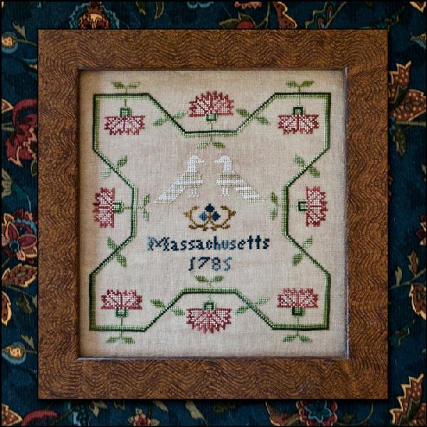 Little House Needleworks - 1785 Samplings-Little House Needleworks - 1785 Samplings, historic, sampler, house,