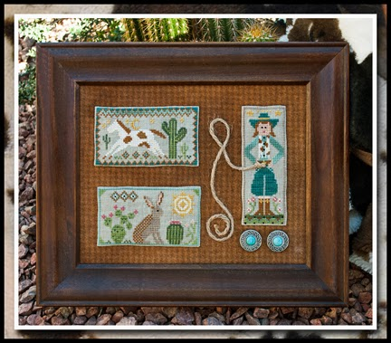 Little House Needleworks - Tumbleweeds - Cowgirl Country-Tumbleweeds, Cowgirl Country, cowboy, western, Cross Stitch Pattern