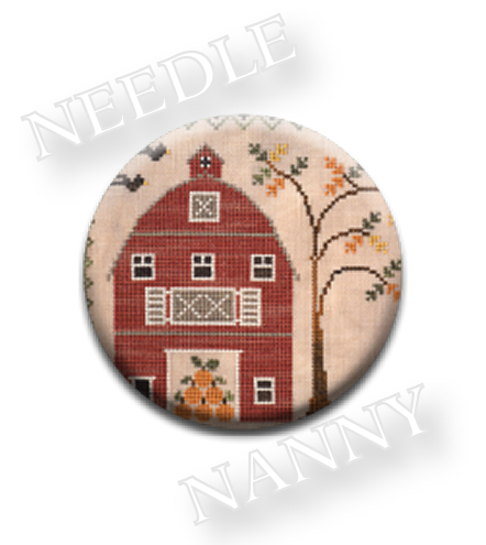 Stitch Dots - The Old Red Barn Needle Nanny by Little House Needleworks-Stitch Dots - The Old Red Barn Needle Nanny by Little House Needleworks