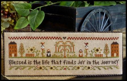 Little House Needleworks - Blessed Is The Life-Little House Needleworks - Blessed Is The Life, journey, God, happiness, love, houses,