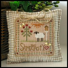 Little House Needleworks - Little Sheep Virtues - Part 06 - Simplicity-Little House Needleworks, Little Sheep Virtues, Part 06 of 12,  Simplicity, Inspirational, book of virtues, sheep, Cross Stitch Pattern