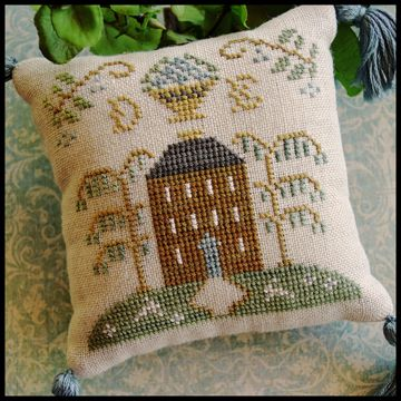 Little House Needleworks - ABC Samplers - DE-Little House Needleworks - ABC Samplers - DE, samplers, pin pillows, pin cushion, alphabet, cross stitch