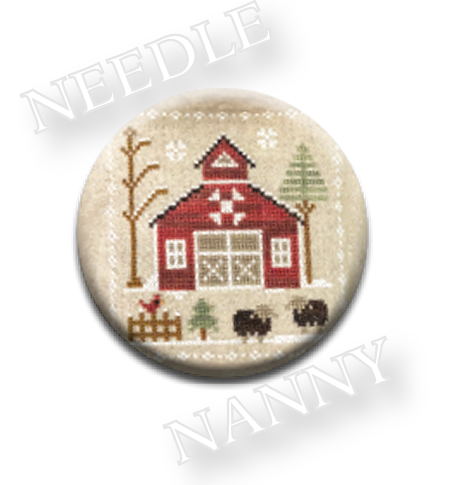 Stitch Dots - Little House Needleworks - Farmhouse Christmas - Baa Baa Black Sheep Needle Nanny-Stitch Dots - Farmhouse Christmas - Baa Baa Black Sheep Needle Nanny by Little House Needleworks, farm animals