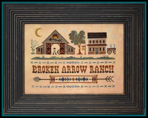 Little House Needleworks - Tumbleweeds - Broken Arrow Ranch-Little House Needleworks, Tumbleweeds, Broken Arrow Ranch,western, cows, farm, barn, Cross Stitch Pattern