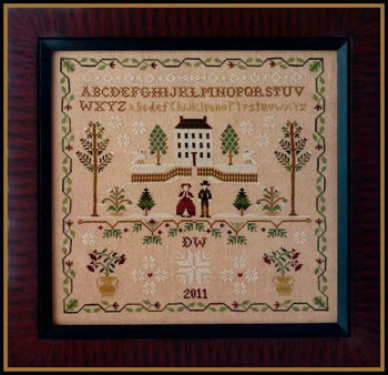 Little House Needleworks - New England Winter Sampler-Little House Needleworks - New England Winter Sampler - Cross Stitch Pattern