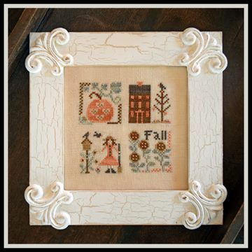 Little House Needleworks - Fall Squared-Little House Needleworks, Fall Squared, Fall, leaves, pumpkin, house,