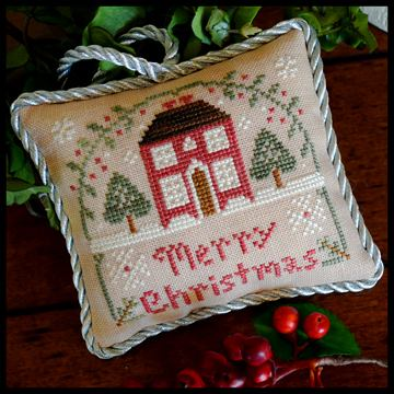 Little House Needleworks - The Sampler Tree - Part 10 - Merry Christmas-Little House Needleworks, The Sampler Tree, Merry Christmas, Christmas ornament, Christmas tree, pincushion