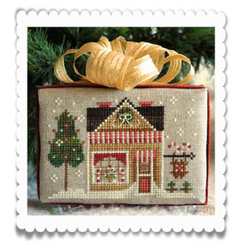 Little House Needleworks - Hometown Holiday - Sweet Shop-Little House Needleworks, Hometown Holiday, Sweet Shop, Ornament, Christmas, candy store, Cross Stitch Pattern
