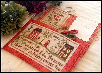Little House Needleworks - Traveling Stitcher - Cross Stitch Pattern with Threads-Little House Needleworks, Traveling Stitcher, Cross Stitch Pattern with Threads,
