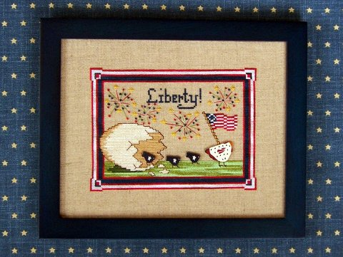 The Needle's Notion - Liberty Birds - Cross Stitch Pattern