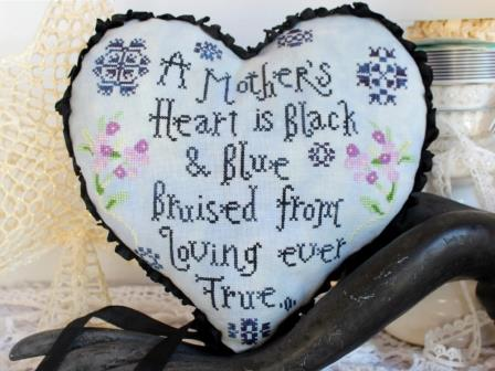 Lindy Stitches - A Mother's Heart-Lindy Stitches - A Mothers Heart, children, love, caring, cross stitch,