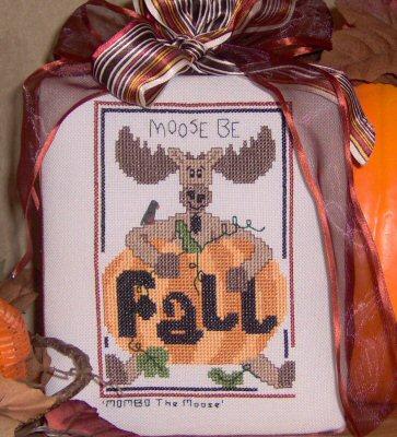 Designs by Lisa - Moose Be Fall - Cross Stitch Pattern