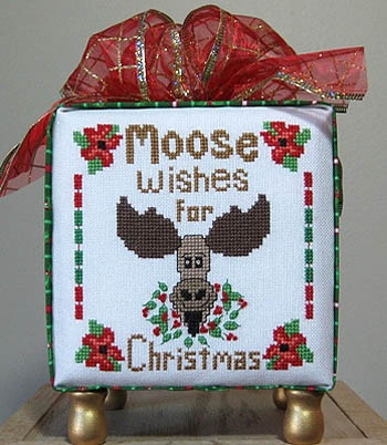 Designs by Lisa - Moose Wishes for Christmas - Cross Stitch Pattern