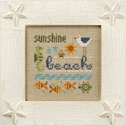 Lizzie Kate - A Little Beach Kit - Cross Stitch Kit