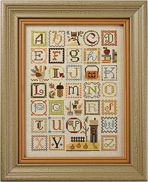 Lizzie Kate - Autumn Alphabet with embellishments-Lizzie Kate - Autumn Alphabet with embellishments
