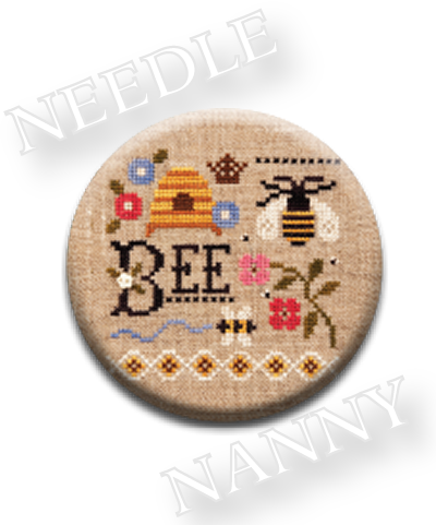 Stitch Dots - Bee Needle Nanny by Lizzie Kate-Stitch Dots - Bee Needle Nanny by Lizzie Kate, bees, magnet, cross stitch