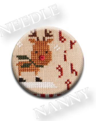 Stitch Dots - Lizzie Kate - Bright Needle Nanny-Stitch Dots - Bright Needle Nanny by Lizzie Kate, reindeer, rudolph the red nosed reindeer, cross stitch, magnet,