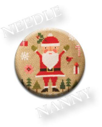 Stitch Dots - Lizzie Kate - Celebrate Needle Nanny-Stitch Dots - Celebrate Needle Nanny by Lizzie Kate, Santa Claus, Christmas, gifts, Dec 25, magnet, cross stitch