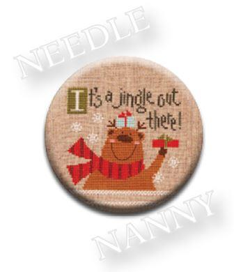 Stitch Dots - Jingle Needle Nanny by Lizzie Kate-Stitch Dots - Jingle Needle Nanny by Lizzie Kate, Rudolph the red nosed reindeer, reindeer, Christmas, Santa Claus, magnet, cross stitch